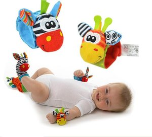Wholesale Fashion New arrival baby rattle baby toys Lamaze plush Garden Bug Wrist Rattle+Foot Socks 5 Styles Free Shipping