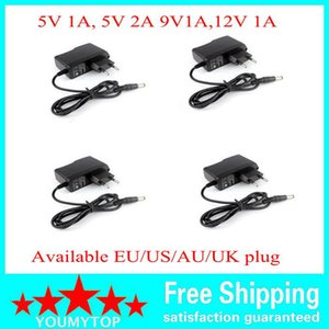 100PCS AC Converter Adapter DC 5V 2A 5V 1A 9V 1A 12V 1A Power Supply Charger EU US plug