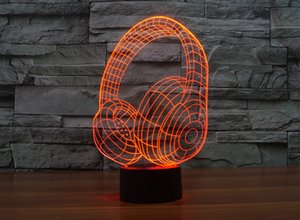 Home decoration, Acrylic 3D sign lights, LED modern life desk lamp, Mini USB mood lamp bedroom, colorful, headphone