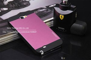 Wholesale Hot Sale Luxury Ultra Thin brushed Aluminum Cover Case For Samsung Galaxy Note N7100 N Luxury