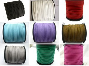 Wholesale Hot Yards Faux Suede Flat Leather Cord Necklace cord mm Spool Pick Your Color DIY jewelry