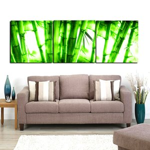 Wholesale Bamboo Lotus Pond Lake City Sunset Fallen Leaves Autumn Trees Panels Landscape Modern Oil Painting Printed On Canvas For Home Decoration