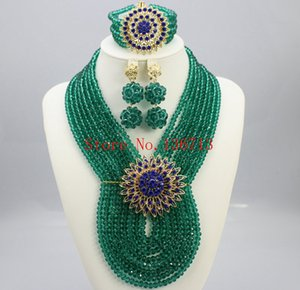 Wholesale Fashion New Dubai Gold Plated Jewelry Set Bridal Jewelry Sets Statement Necklace African Beads Jewelry Set SD802