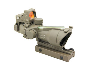 New Trijicon ACOG 4x32 Real Fiber Source Green Illuminated Tactical Rifle Hunting Scope w  RMR Micro Red Dot Sight Dark Earth
