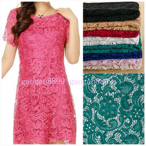 Wholesale hunter green lace fabric for sale - Group buy New Materials Water Soluble D African Lace Venice High Quality Fabric Wedding Evening Dress Gown Skirt Bridal Table Cloth Arabic