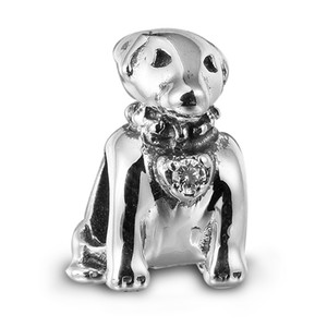 Wholesale silver labradors resale online - Labrador with Clear CZ Sterling Silver Beads Fit Pandora Charms Bracelet Authentic DIY Fashion Jewelry