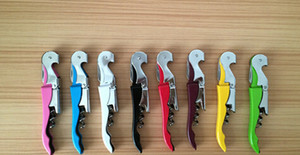 Wholesale Customize Logo Pocket Bar tool Metal Cork Screw Corkscrew Multi Function Red Wine bottle Opener