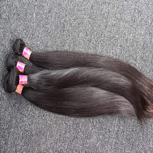 8~30inch Unprocessed Indian Hair Weaves 100% Silky Straight Human Hair Weft 2 Pieces Natural Black Color Hair Bundles Free Shipping