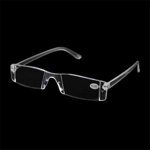 20Pcs Lot Plastic Clear Rimless Eyeglasses Presbyopia White Reading Glasses Unbreakable Women Men Transparent Reading Glasses +1.00-+4.00