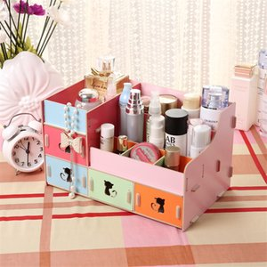 Wholesale-Lovely Cat Hollow Jewelry Drawer Organizer Storage Daiy Necessities Wooden Cosmetic Cases Jewelry Boxes Gift Makeup Organizer