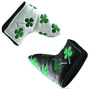 Wholesale golf head covers for sale - Group buy NEW GOLF black white clover putter head cover for golf putters