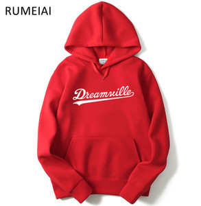Wholesale Men Dreamville J COLE Sweatshirts Autumn Spring Hooded Hoodies Hip Hop Casual Pullovers Tops Clothing