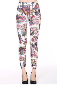 Wholesale Floral Print Pant Type Leggings LC79658 FG1511