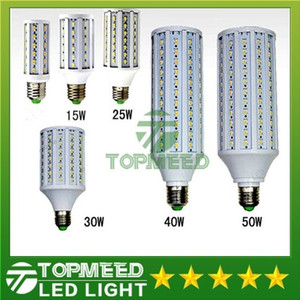 Wholesale Epacket Led Corn light E27 E14 B22 SMD5630 85-265V 12W 15W 25W 30W 40W 50W 4500LM LED bulb 360degree Led Lighting Lamp 55