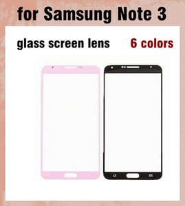 For Samsung Galaxy note 3 Outer Screen Glass Lens Glass Digitizer Screen Cover 6 colors Cheap repair parts cellphone panel DHL free SNP011