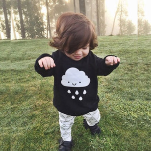 Wholesale-Bobo Choses 2016 Fashion Baby Boys Girls Knitted Sweaters Clothes Cloud Rain Black Sweaters High Quality Baby Sweaters Clothes