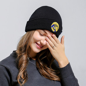 UMA ORELHA Patch Smile Face Wool Hats Woman Letter Pendant Knittied brand Hats Male Autumn Winter Warm hip hop Skullies Beanies