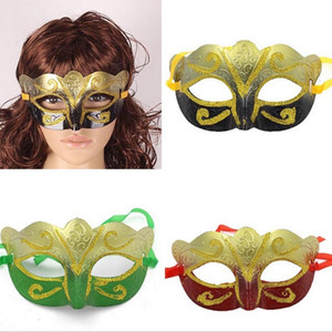 Wholesale weld mask for sale - Group buy 100pcs promotion selling party mask welding gold fashion masquerade Venetian colorful Halloween Christmas party