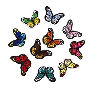 Wholesale 10Pcs set Butterfly Patches For Clothing Jeans Iron On Embroidered Patches Appliques Patches For Kids Clothes Decoration