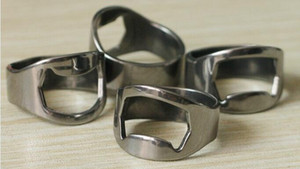 100pcs lot DHLfree shipping Stainless Steel Beer Bar Tool Finger Ring Bottle Opener