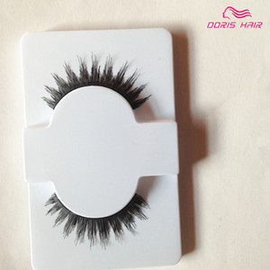 Wholesale false eyelashes human hair resale online - Hot Sales human hair False Eyelashes pairs Natural OR Thick Fake EyeLash Full Strip Handmade Eyelash Extension Mascara