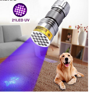 High quality 21 LED UV Light 395-400nm LED UV Flashlight torch lamp UV adhesive curing Travel safety detection