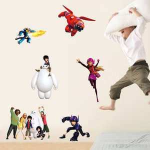 Wholesale Big hero wall stickers cartoon for nursery kids wall decals wall art stickers Wallpaper Kids Party Decoration Christmas cm