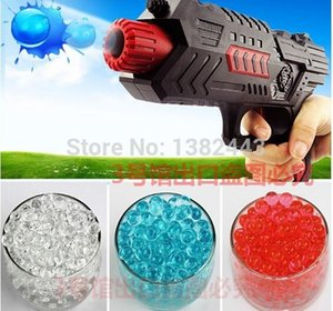 Wholesale HOT 2015 free shipping Water bombs soft crystal water paintball bullet gun toy bibulous water Guns accessories 7 Colors 10000pcs