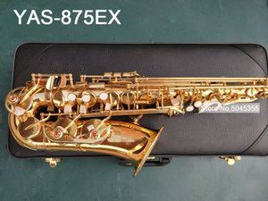 Wholesale Real shot YAS EX Alto Saxophone electrophoresis gold professional sax alto high quality EX playing instrument