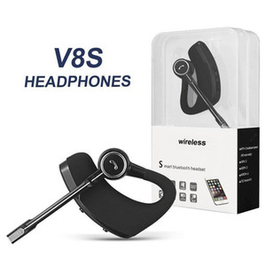 Wholesale V8 V8S Bluetooth Headphones Wireless Headset Handsfree Bluetooth Earphones V4 Legend Stereo Wireless Earbuds For iPhone Samsung In Package