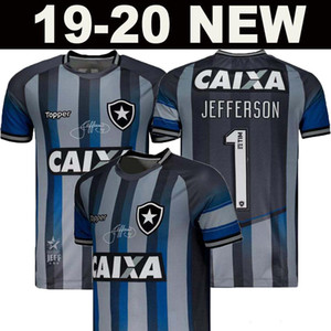 new 2019 2020 Botafogo Soccer Jerseys Edition Home Grey #1 JEFFERSON Football Uniform Shirt Retro Special Commemorative Edition Goalkeeper on Sale