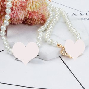 Women Rhinestone Satellite Choker Necklace Cute Orbit Short Pearl Chain Necklace High Quality Jewelry 3 Colors