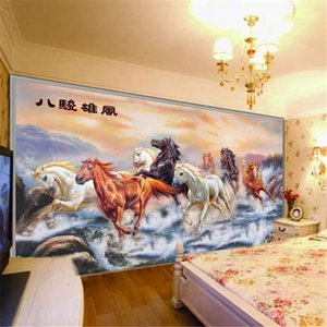 Wholesale wallpaper spring resale online - Custom wallpaper d murals eight spring show glory boutique living room restaurant background wall landscape painting wallpaper