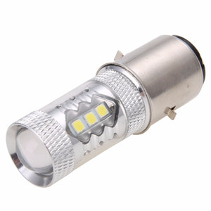 Wholesale 1pc V White H6 Motorcycle Headlight BA20D W LED for Bike Moped Scooter ATV Fog Light DRL Head Lamp Bulb