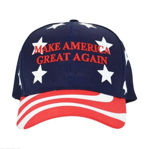 Wholesale maga hats resale online - Donald Trump Baseball Cap outdoor embroidery MAGA Make America Great Again hat sports cap stars striped USA Flag Cap LJJA2630