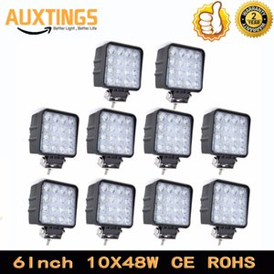 Wholesale 10PCS W led work light spot flood beam Offroad Driving Lights For x4 ATV Truck Tractor Motorcycle Lamp v v