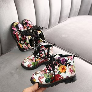 new girls dr martin snow floral princess boots kids Girls Boys Sport Shoes Children Running Shoes Kids Plush Warm Martin Snow
