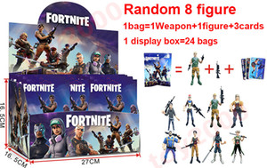 100types Action Figure Cartoon Fortnite Plastic Doll toys kids 11cm-12cm 4.5inch game llama skeleton role Child Toy with display box =24bags