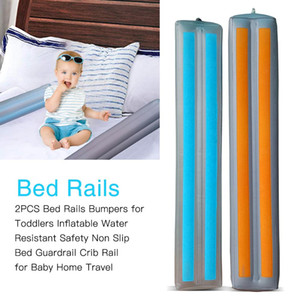 Wholesale 2pcs Inflatable Baby Crib Bed Bumper Fence Kids Cot Playpen Nursey Safety Stuff For Newborns Toddler Bedding Protection Set