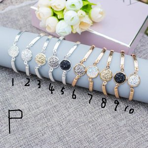 Wholesale 15 Styles Kendra Druzy Drusy Earrings Necklace Scott Silver Gold Resin Stone Bracelets Bangle Women Jewelry Without Logo