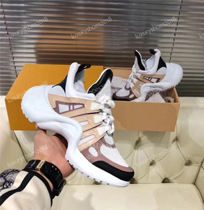 Wholesale mens leather breathable dress shoes resale online - Cheap Mens Womens Casual Dad Shoes Sneakers Beautiful Platform Arch Walking Leather Shoes Leather Patchwork Dress Tennis Sneakers Chaussures