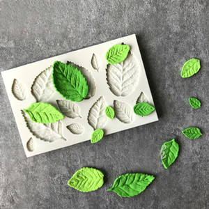 Wholesale Rose Leaves Silicone Soap Mold Kitchen Accessories Cake Mold Candy Cookies Tools Fondant Cake Decoration Soap Mold Baking Moulds