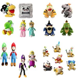 New arrival 100% Cotton Super Mar Bros Mar Luigi Peach Rosalina Bowser Koopa Yoshi Plush Doll Stuffed Animals Toy For Best Gifts NOMA021