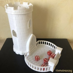 Wholesale Resin Figure Dragon And Dungeons DND Miniature Building Model Kit Dice Tower Castle Modelling DIY Toys Tools Hobby