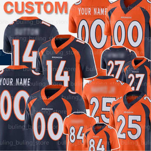 Denver Custom Bronco 14 Courtland Sutton Jersey 18 Peyton Manning Steve Atwater Shannon Sharpe Champ Bailey Dalton Risner Drew Lock Simmons
