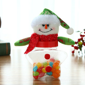 Wholesale doll papers resale online - Christmas Candy Box Santa Claus Snowman Cloth Doll Star Cans Boxes Lovely Cartoon Hot Sale mg UU
