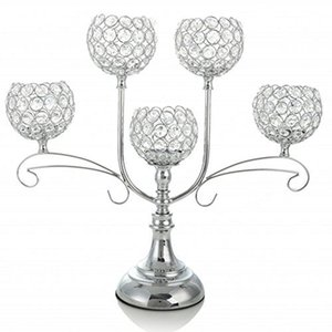 Wholesale Home Decoratio Crystal Candle Holder Event Party Supplies Centerpieces Decoration Dining Tabletop Accessories Candlestick Candelabra Pillars