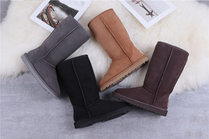 ugg boots kinder großhandel-2020 Designer women uggs boots ugg winter boots travel luggage slippers kids ugglis australia australian satin boot ankle booties fur leather outdoors shoes