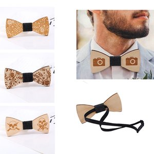 2018 Hot Fashion Mens Wooden Bow Tie Accessory Wedding Party Christmas Gifts Wood Bowtie Neck Wear for Men Women on Sale