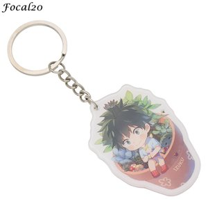 Wholesale Focal20 Trendy Acrylic Boku No Hero Academia Keychains Cute Japanese Anime Character Keyring Backpack Key Chain Accessories